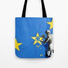 Banksy, Brexit, Euro, Breaking EU Stars, [edited, close up] Tote Bag