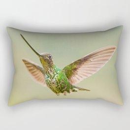 Sword-Billed Hummingbird Flight Rectangular Pillow