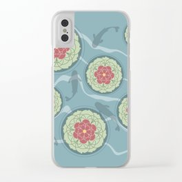 Koi Lotus Pond Clear iPhone Case