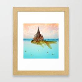Goldfish Castle Island Framed Art Print