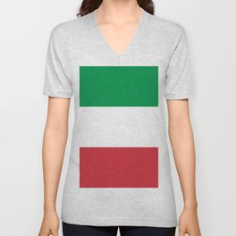 Flag of Italy Unisex V-Neck