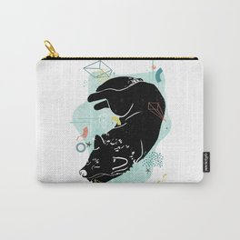Dreaming wolf illustration Carry-All Pouch