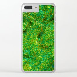 Neon Green Rock Clear iPhone Case