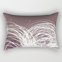 Doodle Flowers in Purple by Friztin Rectangular Pillow