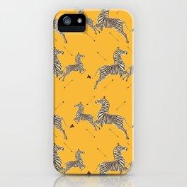 Royal Tenenbaums Zebra Wallpaper - Mustard Yellow iPhone Case
