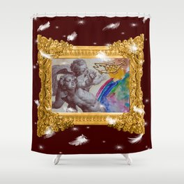 Barocco cocco choco - Variations on the theme of the Baroque Shower Curtain