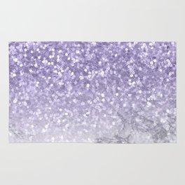 Unicorn Purple Glitter Marble Rug