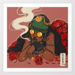 Rose War Art Print