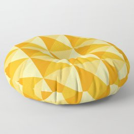 Geometric Prism in Sunshine Yellow Floor Pillow