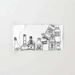 Alcohol Bottles (White) Hand & Bath Towel
