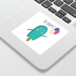 Happy icecream Sticker