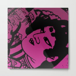 Budda Pink Metal Print