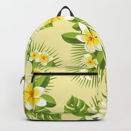 Tropical Bouquet. Plumeria Backpack