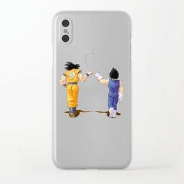 Fan Art Goku and Vegeta friends Clear iPhone Case