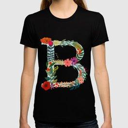 B Monogram Letter Abecedary T-shirt