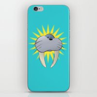 walrus iPhone & iPod Skins featuring Walrus by quietsight