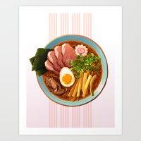 ramen Art Prints featuring Ramen by Tami Wicinas