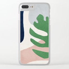 Abstract art, Mid century modern wall art Clear iPhone Case