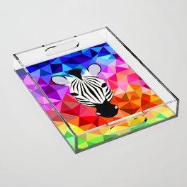 Zebra Dazzle Acrylic Tray