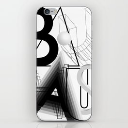 History of Art in Black and White. Bauhaus iPhone Skin