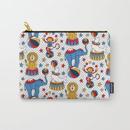 Little Circus Stars on White Carry-All Pouch