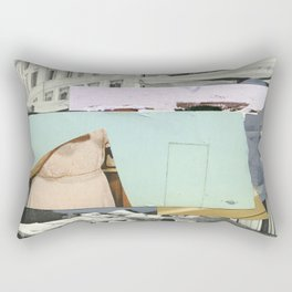 Untitled / Paper collage & Acrylic / 2015 Rectangular Pillow