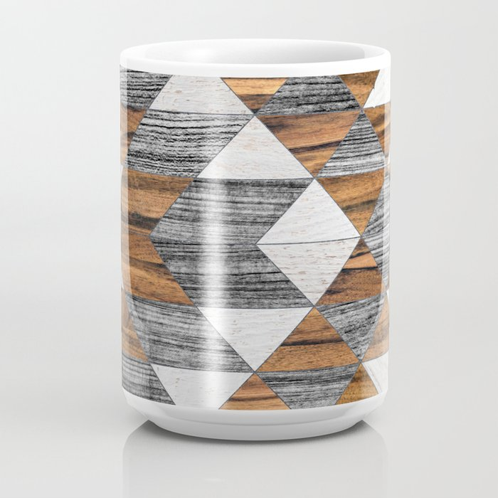 Urban Tribal Pattern No.12 - Aztec - Wood Coffee Mug