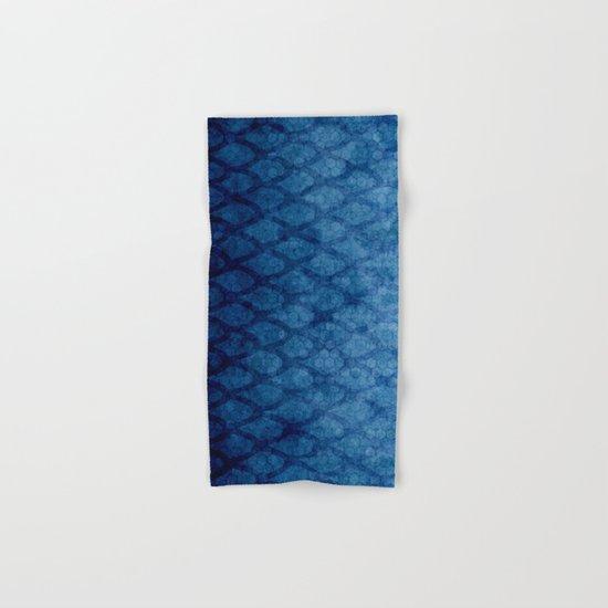 Blue texture Hand & Bath Towel