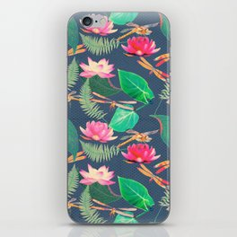 Lotus Flowers and Dragonflies iPhone Skin