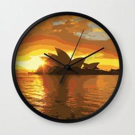 Beautiful Sunset in Sydney, Australia  Wall Clock