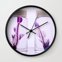 Fluorescent Fishbones Wall Clock