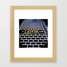 Look! Framed Art Print