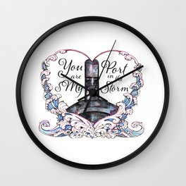 You Are My Port in the Storm - Submarine Wall Clock