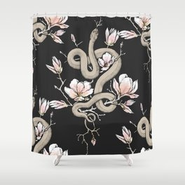 Magnolia and Serpent Shower Curtain