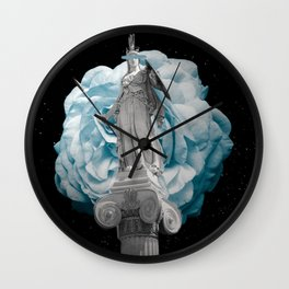 She Takes on the World Wall Clock
