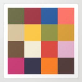 Fashion Colors Spring 2019 Art Print