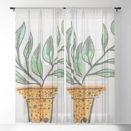 PLANT FOR THOUGHT Sheer Curtain