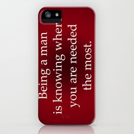 Being a Man iPhone Case