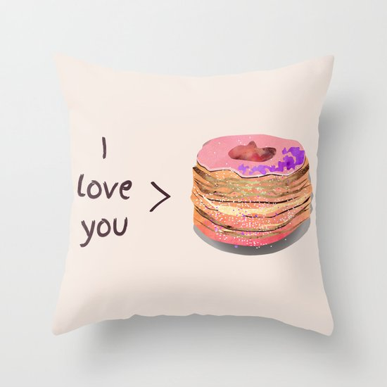 I love you more than cronuts Throw Pillow