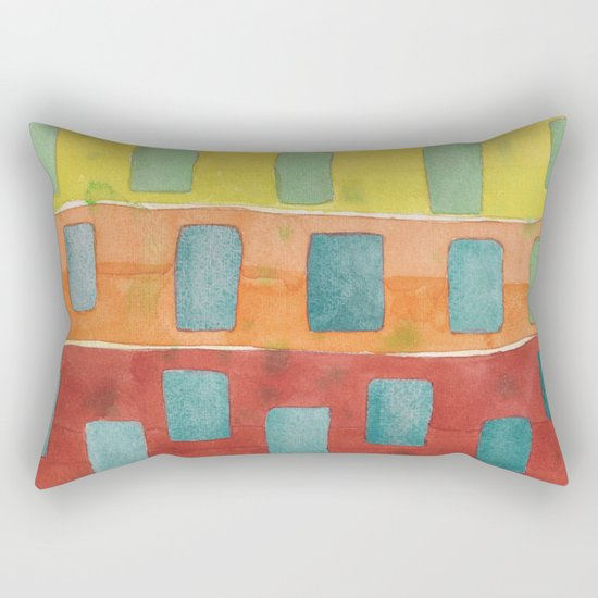 Placed in a Red Orange Yellow Field Rectangular Pillow