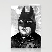 bat man Stationery Cards featuring BAT MAN by DIVIDUS