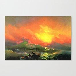 12,000pixel-500dpi - Ivan Aivazovsky - The Ninth Wave - Digital Remastered Edition Canvas Print