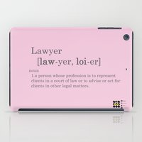 lawyer iPad Cases featuring pink lawyer by Be Raza