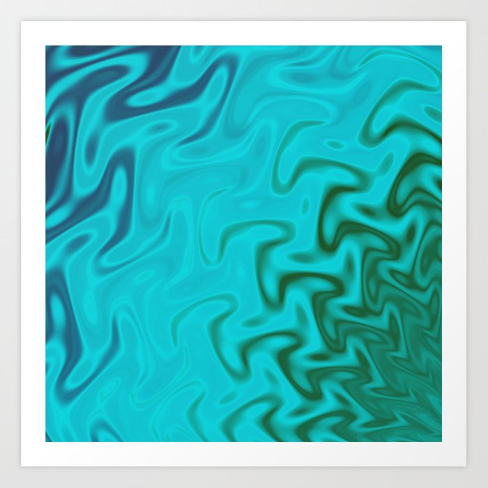Ripples Fractal in Tropical Seas Art Print