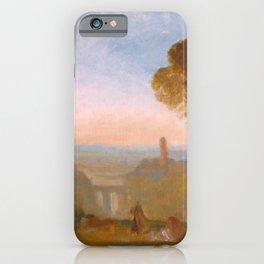 William Turner - Italian Landscape with Bridge and Tower iPhone Case
