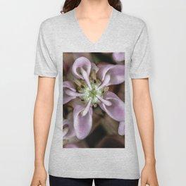 Milkweed flower close up Unisex V-Neck