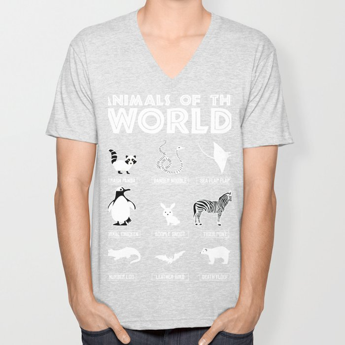 Animals Of The World product, Funny Animal Tee Unisex V-Neck