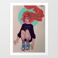 cyarin Art Prints featuring Breeze by Cyarin