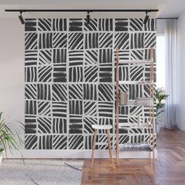 Weave Pattern - Black Wall Mural