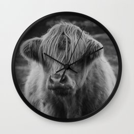 Highland cow III Wall Clock